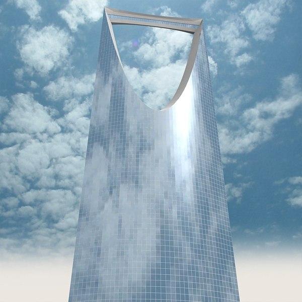 kingdom tower skyscraper 3d max