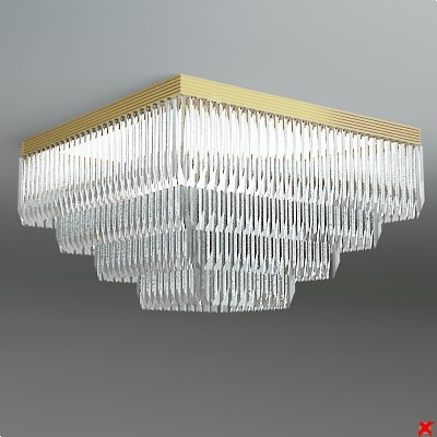 3d chandelier light model