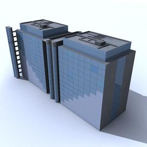 generic office building 3d max