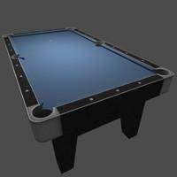 3d model billiards table blue pool