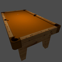 3d dxf billiards table orange