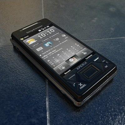 sonyericsson xperia x1 phone 3d model