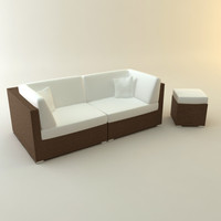 design couch lounger garden 3d model