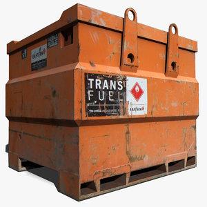 3ds max fuel container