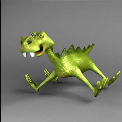 toon dragon character 3ds