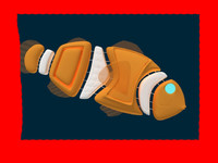 3d max electronic fish clownfish