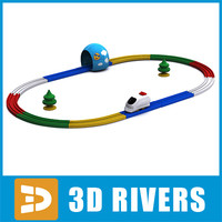 3d 3ds baby toy railway