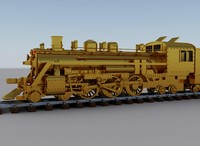 3ds max steam locomotive