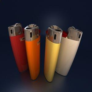 3d model bic mini lighter