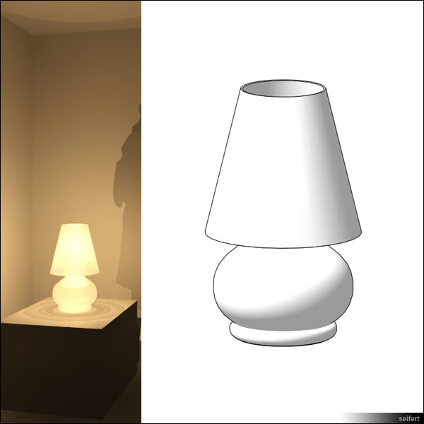 free table lamp 3d model