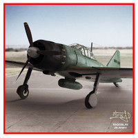 airplane mitsubishi zero 3d model