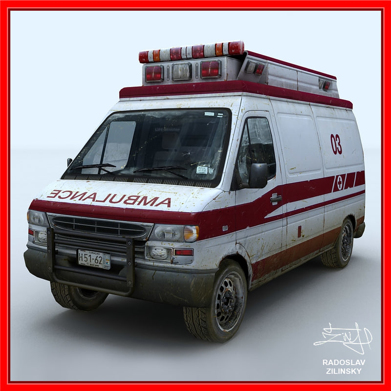 3dsmax ambulance dirty version