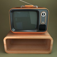 Retro TV with stand
