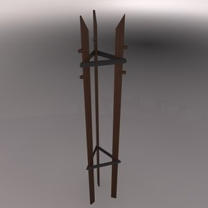 3d model coat rack perchero