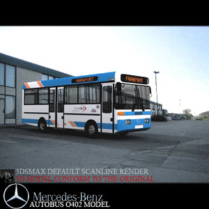 vehicle mercedes o402 3d model