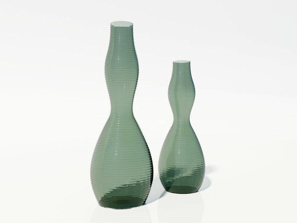 3ds glass vases
