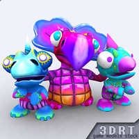3ds max toonpets dinos 1