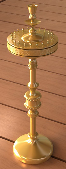 candle stand 1 3d max