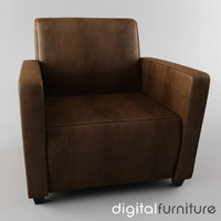 3d armchair digital