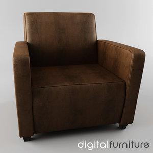 3d armchair digital
