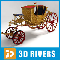 3d model of circus carriage