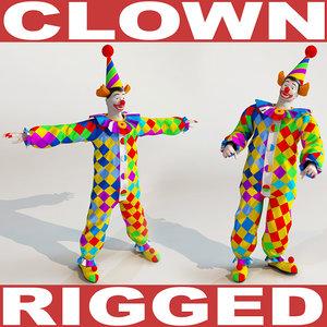 clown rigged biped 3d max