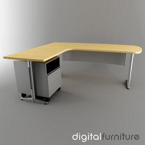 3d 3ds office desk