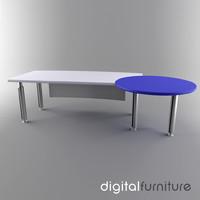 office desk 3d lwo