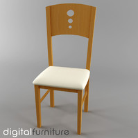 3d model of dining chair