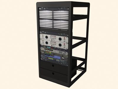 effects rackmount 3d model
