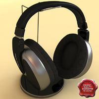 3d model headphones philips