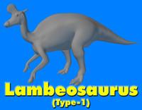 3ds lambeosaurus dinosaur