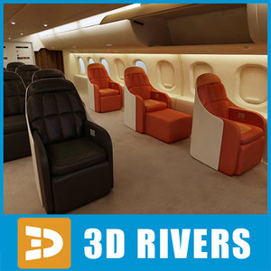 3d airbus class interior middle