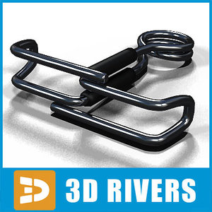 pinch clamp 3d model