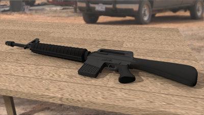 3ds max m-16 assault rifle