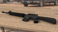 3ds max m-16 assault rifle