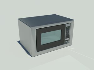 stainless steel microwave oven 3d model