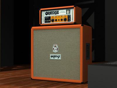 3d model of orange or-50 4x12 cabinet