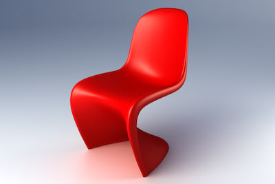 classic panton chair 3d model