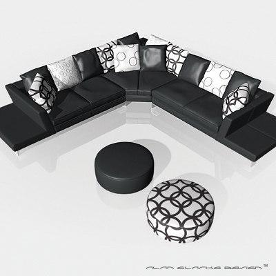 Luxury Corner Sofa Leather