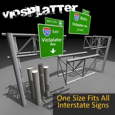 interstate sign 3d model