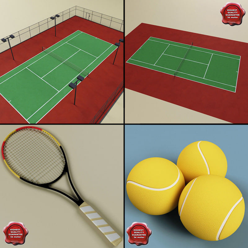 tennis v2 3d model