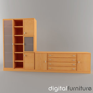 wall digital 3d model