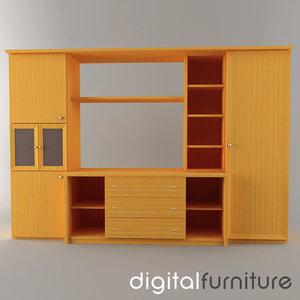 wall digital 3d 3ds