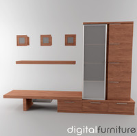 TV Furniture Wall System 06