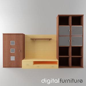 3d wall digital model