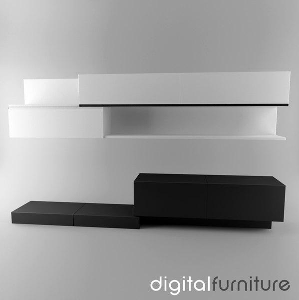 wall furniture 3d max