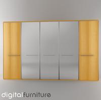 wardrobe digital 3d obj