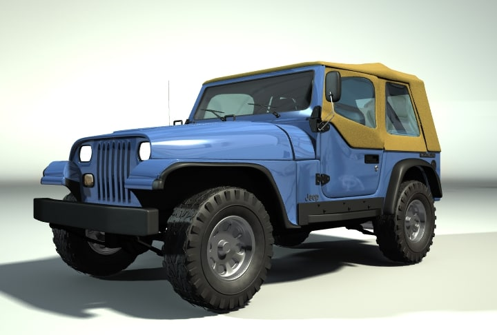3d 1987 jeep wrangler