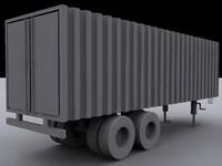 semi trailer 3d max